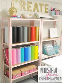 craft room organization ideas Inexpensive Craft Room Shelving - Classy Clutter