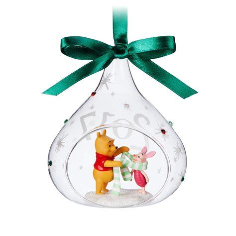 disney sketchbook ornament winnie pooh piglet glass drop