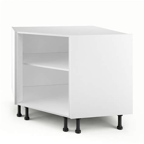 caisson de cuisine caisson de cuisine bas d angle pc100 delinia blanc l 100 x h 85 x p 56 cm leroy merlin