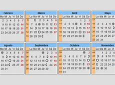 Calendario lunar del embarazo 2017 Calendarios de embarazo