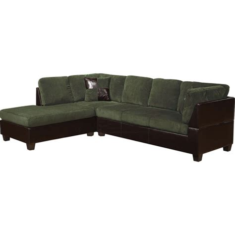 grey corduroy sectional sofa connell collection corduroy and faux leather sectional