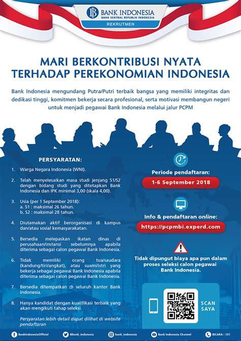 lowongan kerja bank indonesia lokernascom info