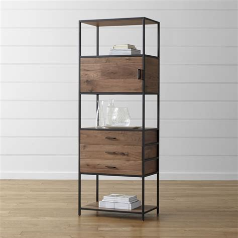 crate and barrel bookcase storage bookcase crate and barrel