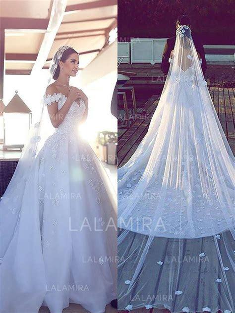 flattering   shoulder ball gown wedding dresses