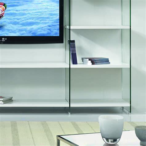 libreria parete libreria porta tv byblos da parete in legno e vetro 250 x