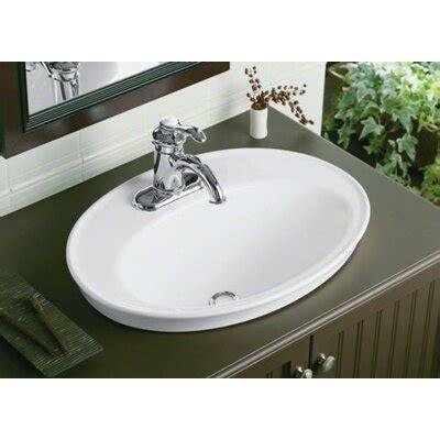 Kohler Sink Bathroom by Kohler Serif Drop In Bathroom Sink Reviews Wayfair