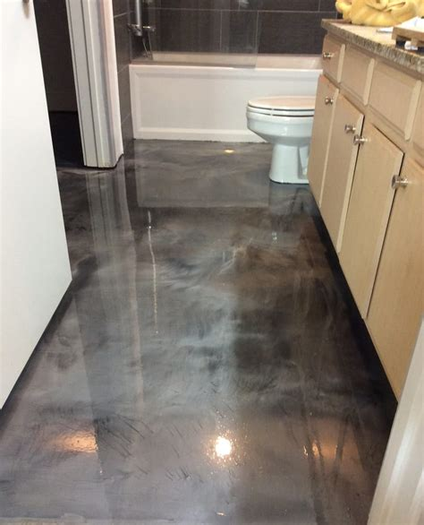 epoxy flooring in bathrooms metallic epoxy bathroom floor coating yelp