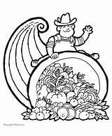 Coloring Thanksgiving Cornucopia Pages Printable Printing Help Rhonda Roberts sketch template