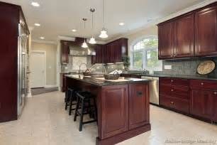 cherry kitchen island pictures of kitchens traditional wood kitchens cherry color page 2