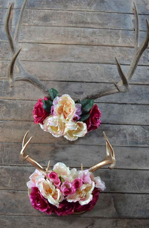 rustic chic antler decor diy  apartment  home