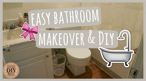 Easy Bathroom Makeovers by Easy Bathroom Makeover Diy