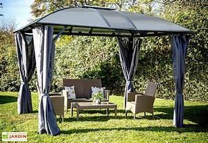 tonnelle en metal mon amenagement jardin With ordinary rideau exterieur pour pergola 12 tonnelle aluminium