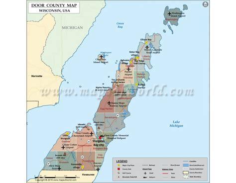 map of door county wi buy door county map