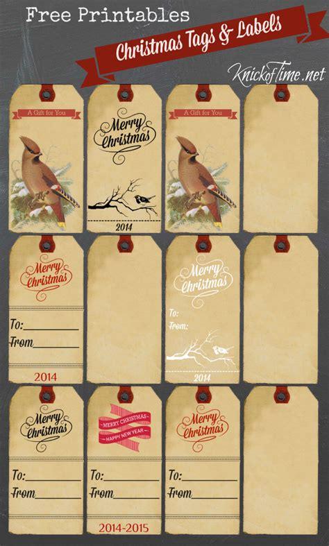 printable christmas gift tags knick  time