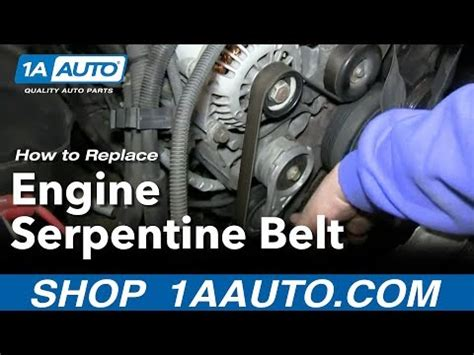 How Install Replace Vortec Engine Serpentine