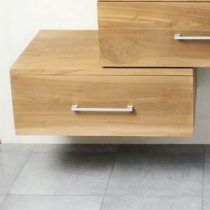 Meuble Sous Vasque 70 Cm : meuble suspendu sous vasque en teck 70 cm 18 760 ~ Teatrodelosmanantiales.com Idées de Décoration