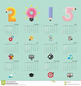 Creative Calendar 2015 Design Template With Business Or ...