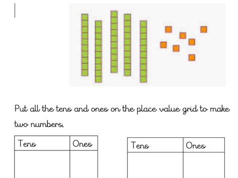 There are a range of skills for you to practice from counting to combining and writing in standard or expanded form. Tens And Ones Worksheet / Easy to download and print, this worksheet can be a great activity to ...
