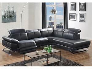 Vente Privée Canapé : canap d 39 angle relax lectrique en cuir noir ou blanc puno ~ Teatrodelosmanantiales.com Idées de Décoration