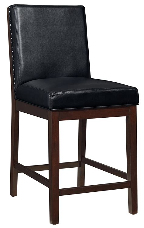 upholstered counter height chair with nail trim by