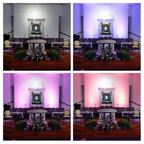 led wall wash lighting at faith deliverance brownsville