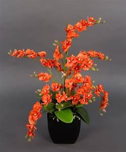 Künstliche Orchideen Im Topf : orchideen arrangement orange im schw de topf pm k nstliche orchidee kunstblumen ebay ~ Watch28wear.com Haus und Dekorationen