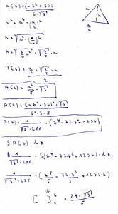 Tetraeder Volumen Berechnen : volumen k rper mit querschnittsfl che in jeder h he gleichseitiges dreieck mit seite a z z ~ Themetempest.com Abrechnung
