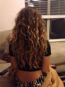 Long Curly Hair with Highlights