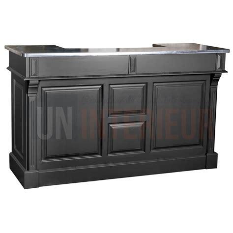 largeur comptoir bar meuble bar zinc 160cm pin massif