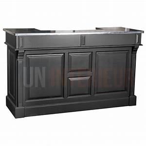 meuble bar zinc 160cm pin massif With comptoir des indes meubles