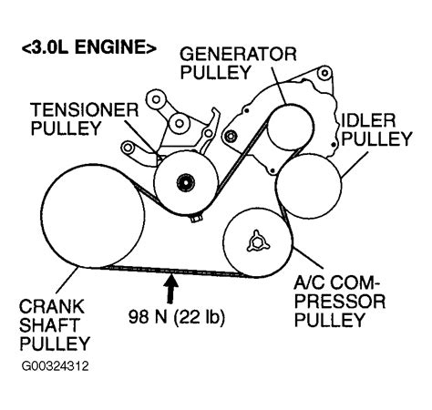 2003 Mitsubishi Eclipse Timing Belt by 2003 Mitsubishi Eclipse Serpentine Belt Routing And Timing