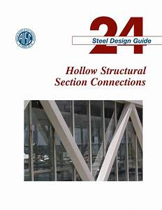Aisc Design Guide 24 Hollow Structural Section Connections