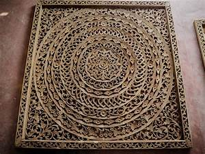 Large Handmade Relief Carving Tropical Home Decor - Siam