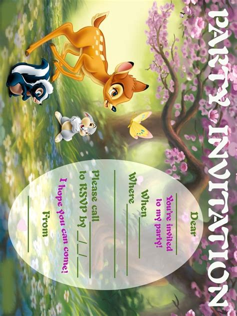 bambi birthday party invitation ideas bagvania