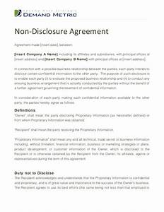 non disclosure agreement template With letter of confidentiality and nondisclosure template