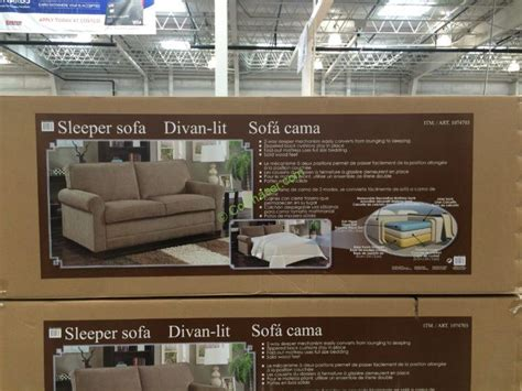 synergy home sleeper sofa costco 1074703 synergy home sleeper sofa box costcochaser