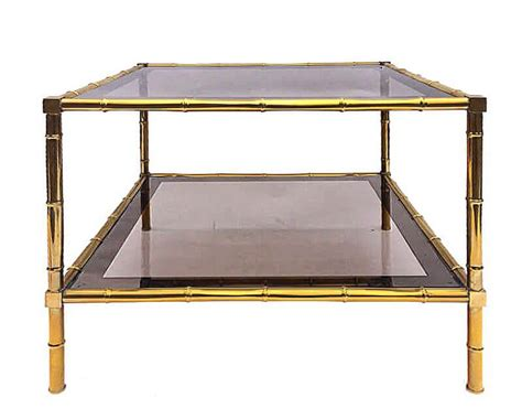 Brass Faux Bamboo Coffee Table   galleria62