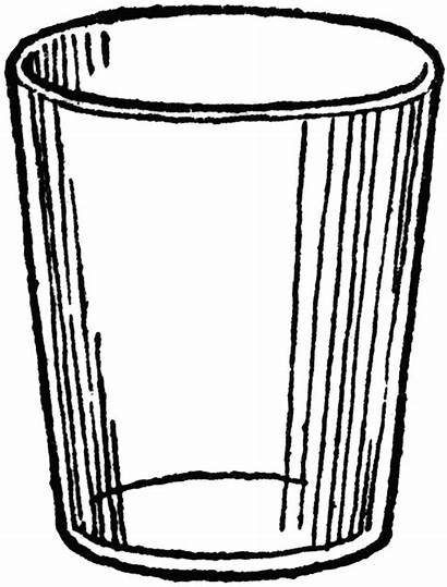 Clipart Water Cup Glass Coloring Pages Clipartion