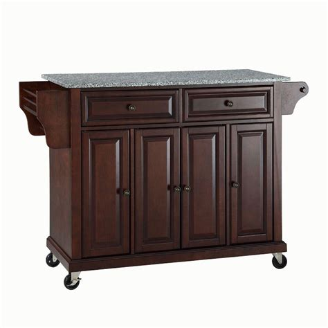 solid wood kitchen island cart crosley 28 1 4 in w wood top mobile kitchen