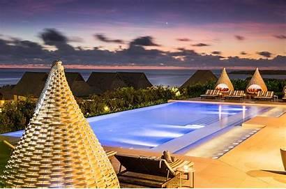 Fiji Wallpapers Desktop Sunset Backgrounds Pool Beach