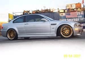 E46 M3 Silver with Gold Wheels