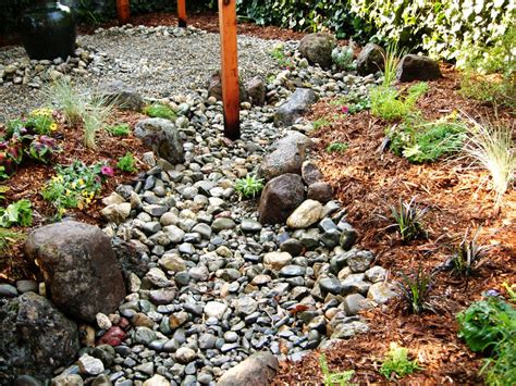 how to build a creek bed how to install a dry creek bed how tos diy