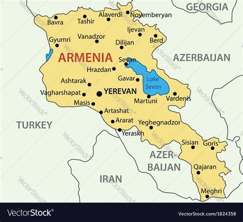 republic  armenia map royalty  vector image