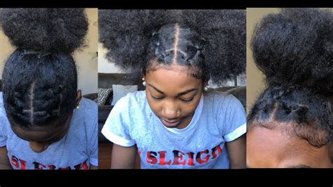 trendy rubberband hairstyles  natural hair youtube