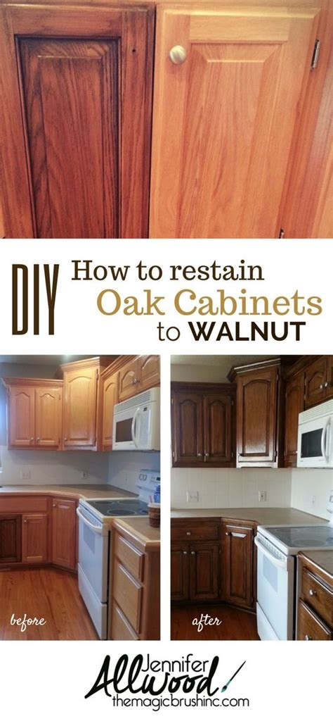 Restaining Oak Cabinets by 1000 Ideas About Oak Cabinets On White