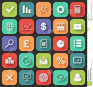 Business Flat Icons Set For Web And Mobile  Vector Stock