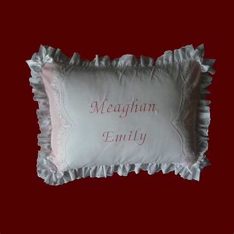 keepsake personalized baby pillow christening pillows smocked treasures