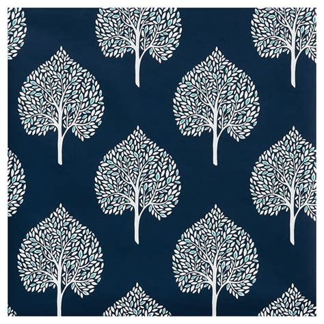 papier peint feuilles darbre  bleu marine