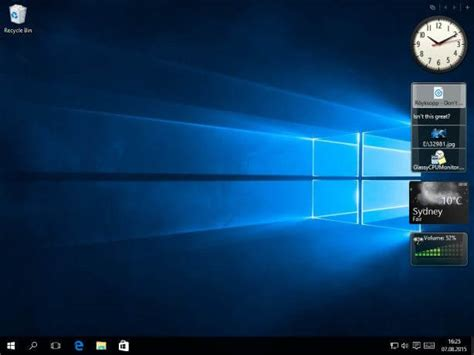 windows gadgets de bureau how to install desktop gadgets in windows 10