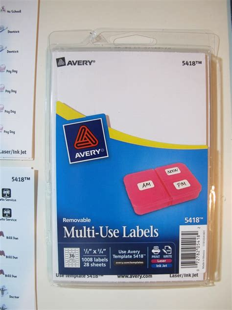 avery 5418 template diary stickers for my filofax